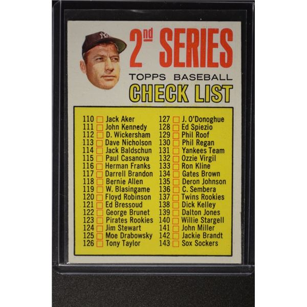 1967 Topps #103A Mickey Mantle