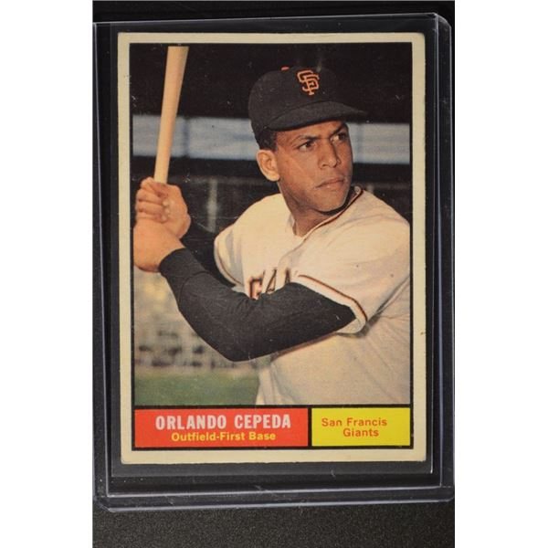 1961 Topps #435 Orlando Cepeda UER/San Francis on/card front