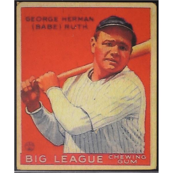 1933 Goudey #149 Babe Ruth ROOKIE (Reprint)