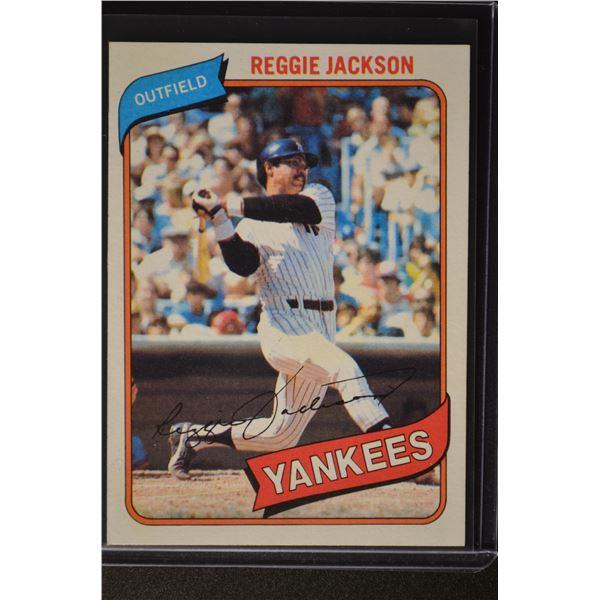 1980 Topps #600 Reggie Jackson