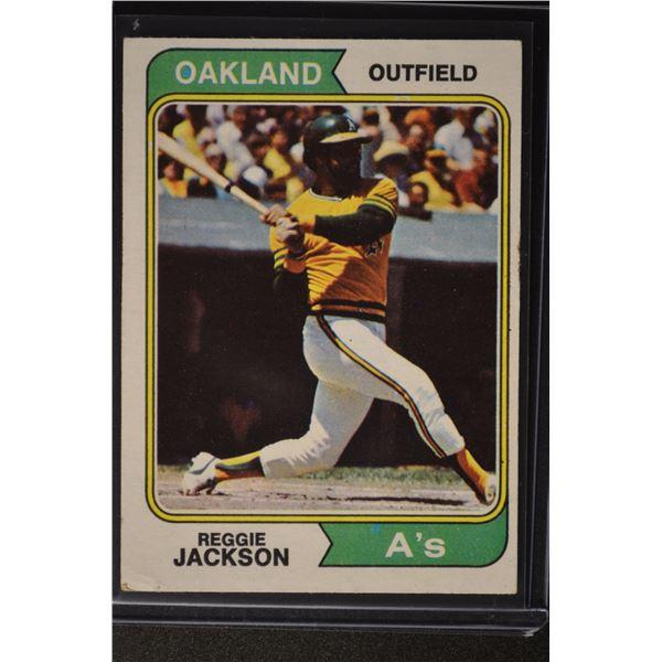 1974 Topps #130 Reggie Jackson