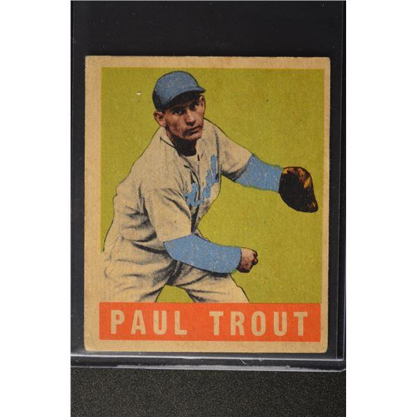 1949 Leaf #10 Dizzy Trout
