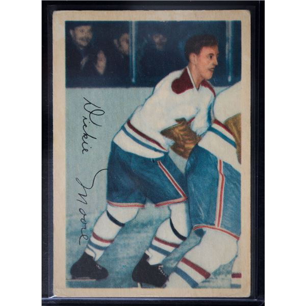 1953-54 Parkhurst #28 Dickie Moore UER/(Photo actually/Jean Beliveau)