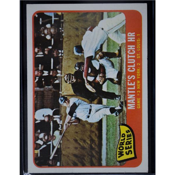 1965 Topps #134 World Series Game 3/Mickey Mantle