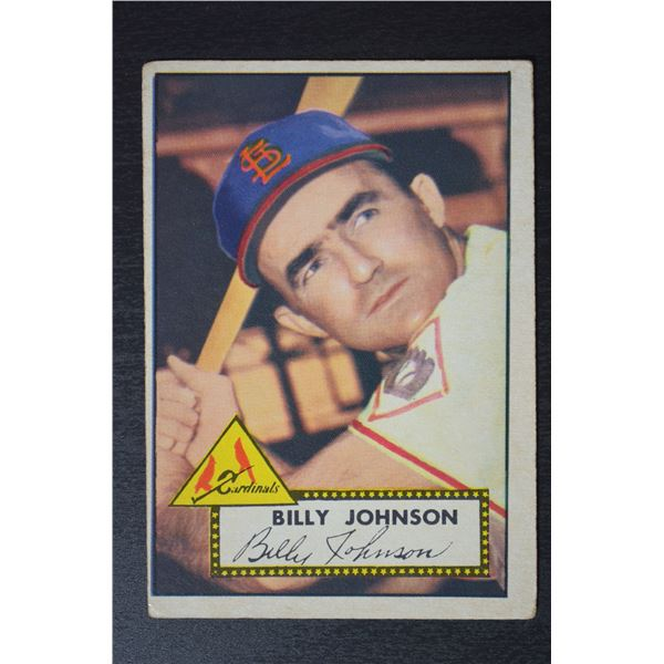 1952 Topps #83 Billy Johnson