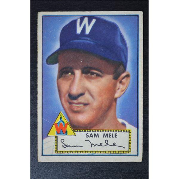 1952 Topps #94 Sam Mele