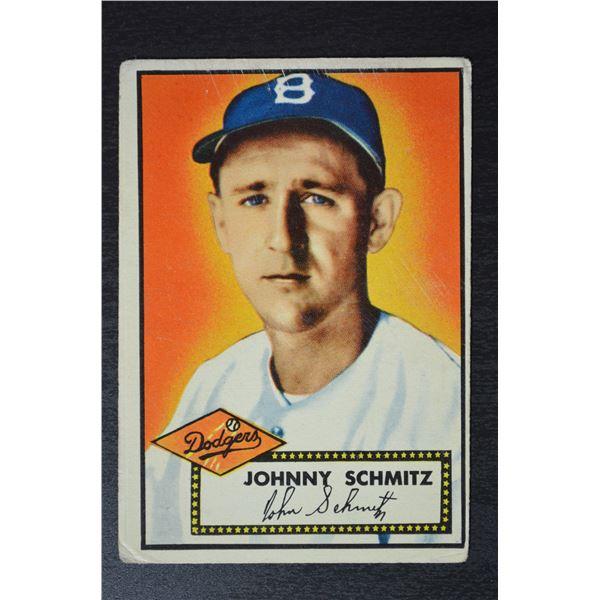 1952 Topps #136A Johnny Schmitz GB