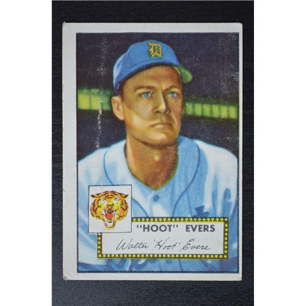 1952 Topps #222 Hoot Evers