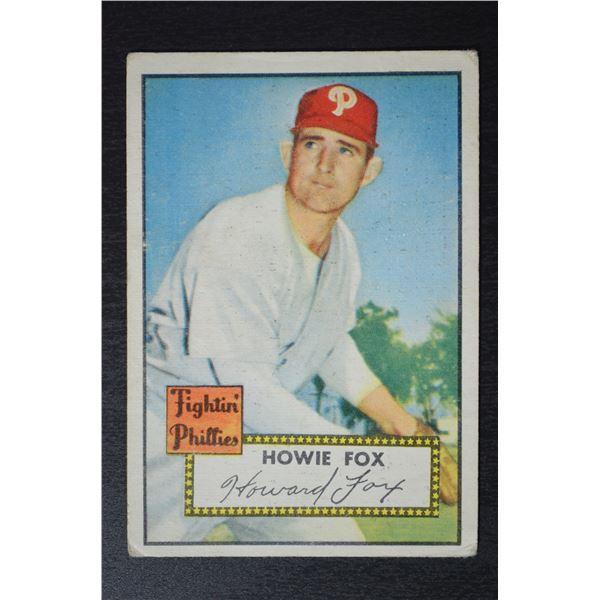 1952 Topps #209 Howie Fox
