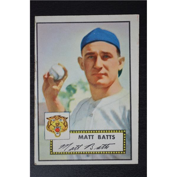 1952 Topps #230 Matt Batts