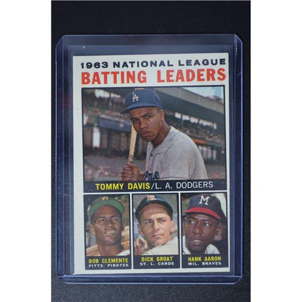 1964 Topps #7 NL Batting Leaders/Tommy Davis/Roberto Clemente/Dick Groat/Hank Aaron