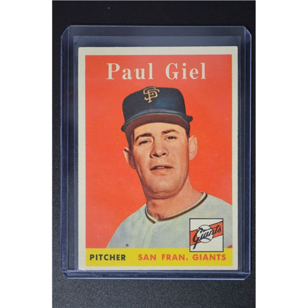 1958 Topps #308 Paul Giel
