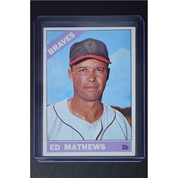 1966 Topps #200 Eddie Mathews