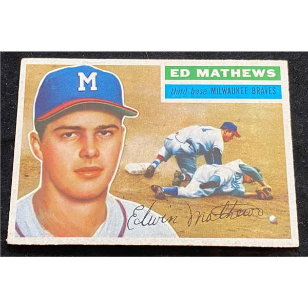 1956 Topps #107 Eddie Mathews