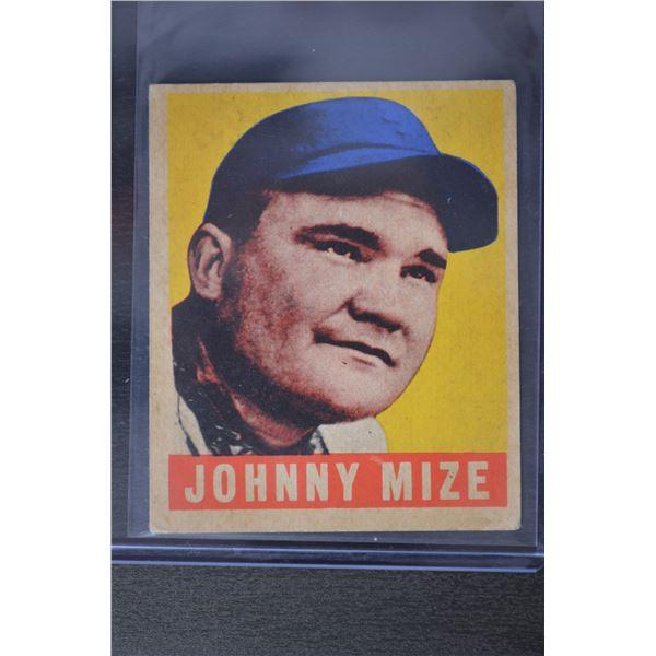 1949 Leaf #46 Johnny Mize