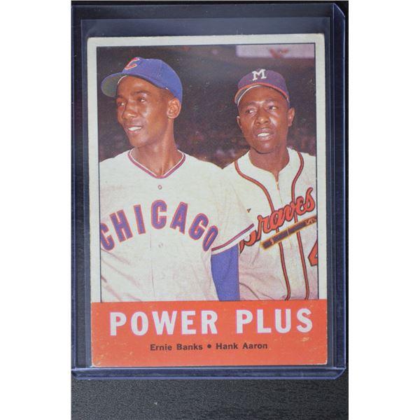 1963 Topps #242 Power Plus/Ernie Banks/Hank Aaron