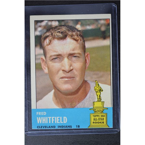1963 Topps #211 Fred Whitfield RC