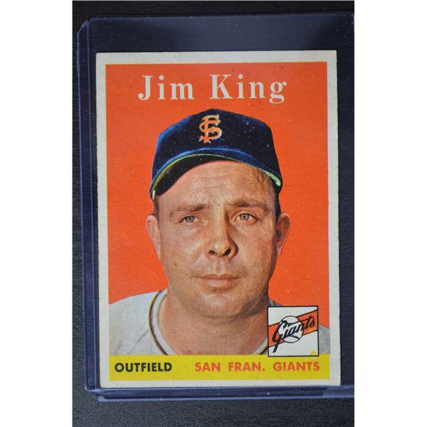 1958 Topps #332 Jim King