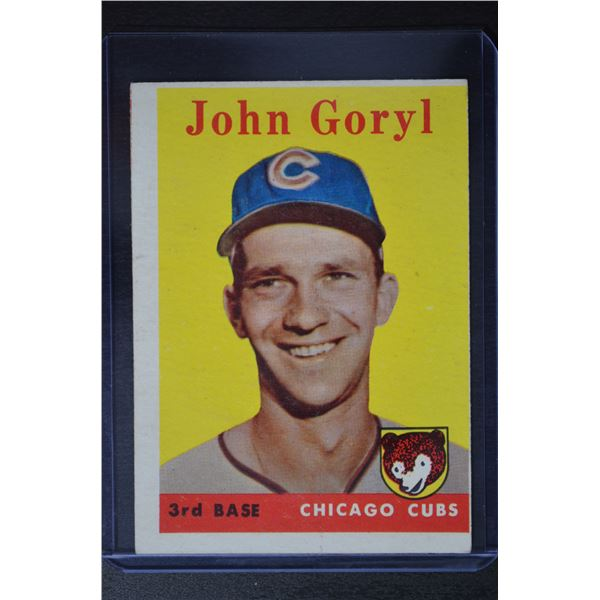 1958 Topps #384 John Goryl RC