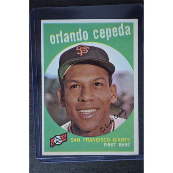 1959 Topps #390 Orlando Cepeda
