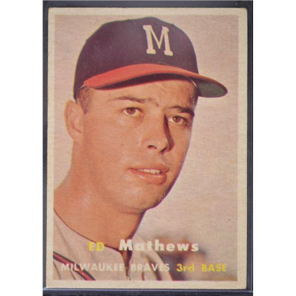 1957 Topps #250 Eddie Mathews