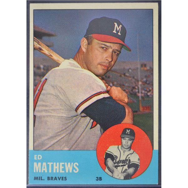 1963 Topps #275 Eddie Mathews