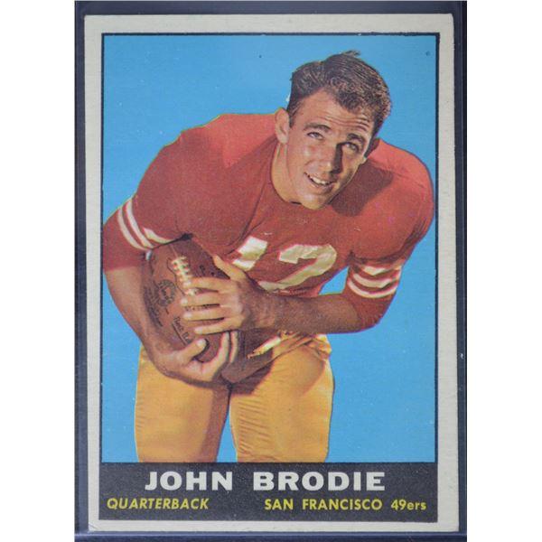 1961 Topps #59 John Brodie RC