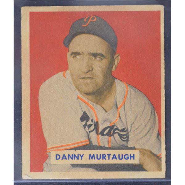 1949 Bowman #124A Danny Murtaugh Script RC