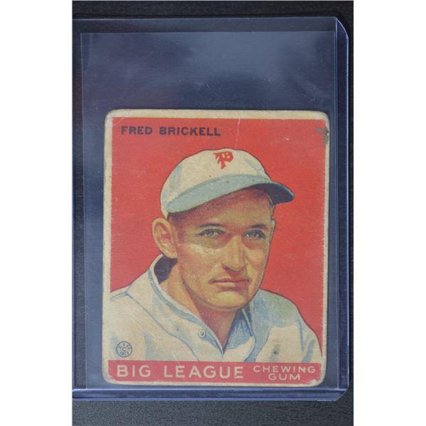 1933 Goudey #38 Fred Brickell RC