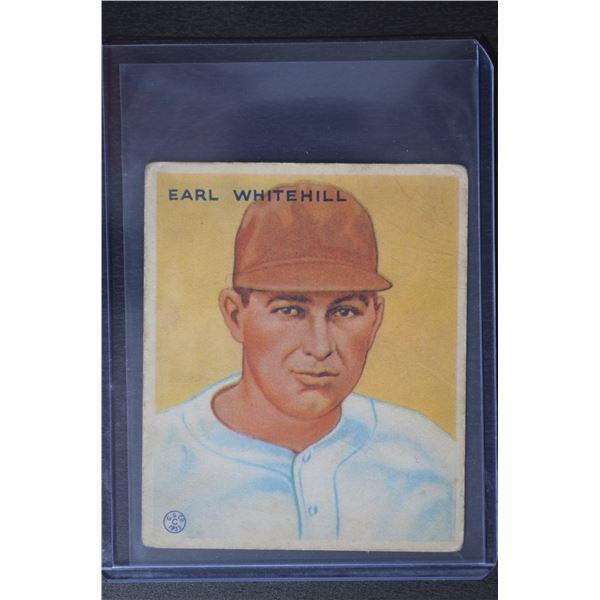 1933 Goudey #124 Earl Whitehill RC