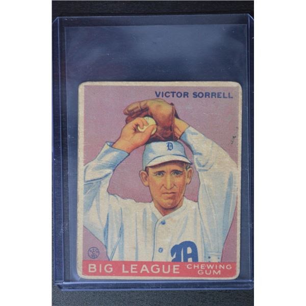 1933 Goudey #15 Victor Sorrell RC