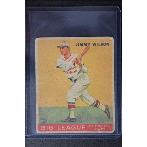 1933 Goudey #37 Jimmy Wilson RC