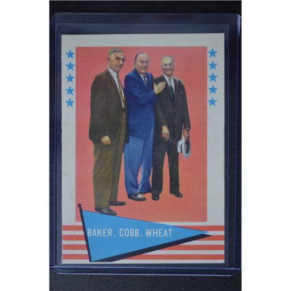 1961 Fleer #1 Frank Baker CL/Ty Cobb/Zack Wheat
