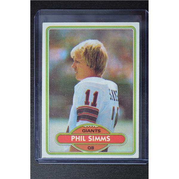 1980 Topps #225 Phil Simms RC