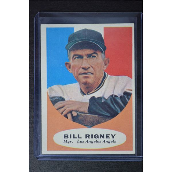 1961 Topps #225 Bill Rigney MG
