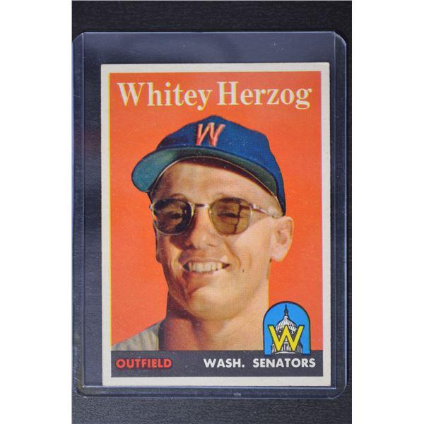 1958 Topps #438 Whitey Herzog