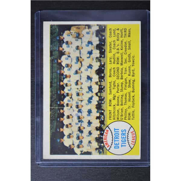 1958 Topps #397A Detroit Tigers TC/Alphabetical