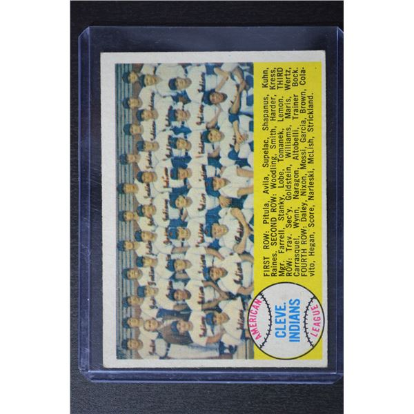 1958 Topps #158 Cleveland Indians TC