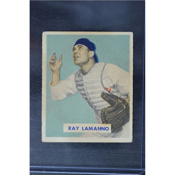 1949 Bowman #113 Ray LaManno RC