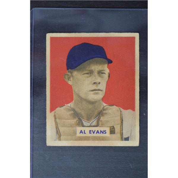 1949 Bowman #132B Al Evans Pint