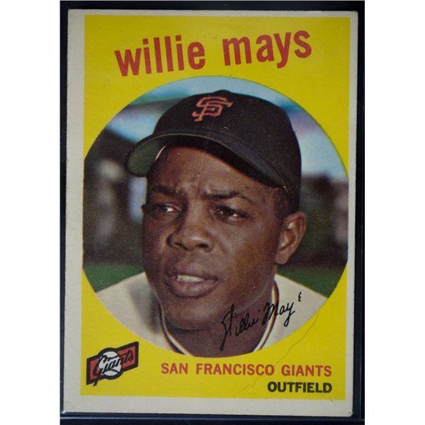 1959 Topps #50 Willie Mays