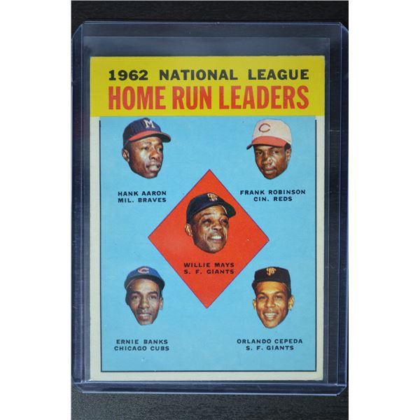 1963 Topps #3 NL Home Run Leaders