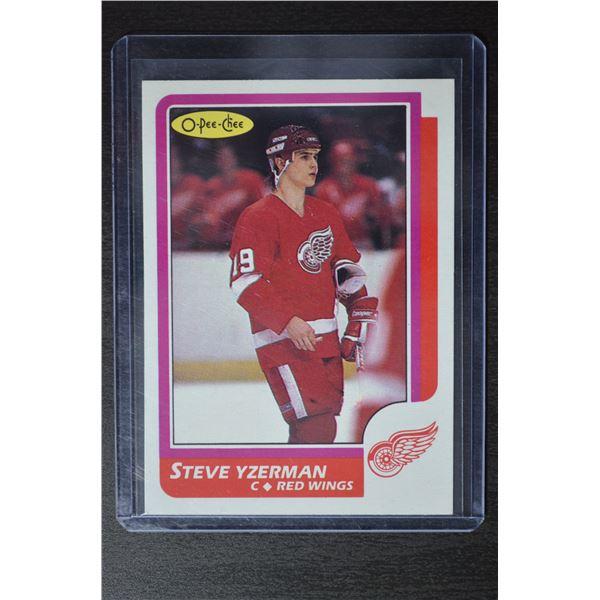 1986-87 O-Pee-Chee #11 Steve Yzerman