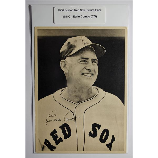 1950 Boston Red Sox Picture Pack - Earle Combs (CO)