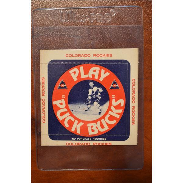 1976-77 Rockies Puck Bucks