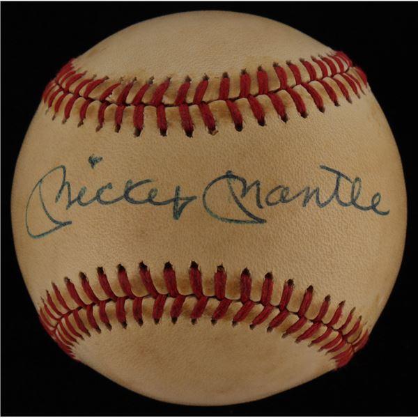 Mickey Mantle - Autographed Baseball