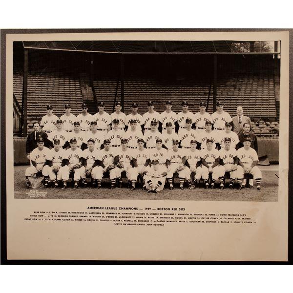 1949 Boston Red Sox Team Photo
