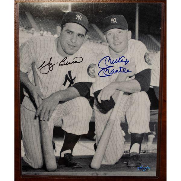 Autographed Photo - Yogi Berra & Mickey Mantle