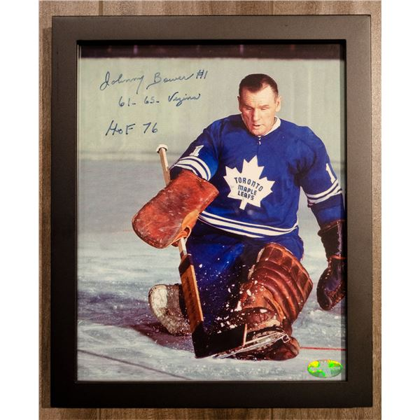 Autographed Photo (Framed) - Johnny Bower