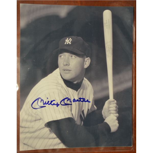 Autographed Photo - Mickey Mantle